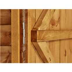 4ft x 8ft  Premium Tongue and Groove Apex Shed - Double Doors - 4 Windows - 12mm Tongue and Groove Floor and Roof