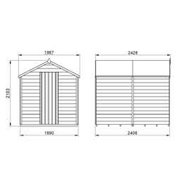 INSTALLED 8ft x 6ft (2.4m x 1.9m) Overlap Apex Security Shed With Single Door - Windowless - Modular - INSTALLATION INCLUDED