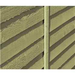 6ft x 3ft (1.8m x 0.9m) - Pressure Treated  Value Overlap - Pent Garden Shed - Windowless - Double Doors - 10mm Solid OSB Floor - CORE
