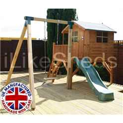 Poppy Tower Playhouse, Slide & Swing 5ft x 7ft