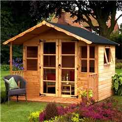 8ft x 8ft (2.44m x 2.54m) Wessex Summerhouse (12mm T&G Floor & Roof)