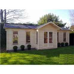 8.5m x 4.5m PREMIER MORZINE Log Cabin - Double Glazing - 70mm Wall Thickness