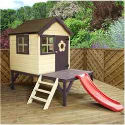 Snug Playhouse 4ft x 4ft With Tower and Slide