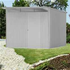 8ft x 10ft Ex Large Metallic Silver Heavy Duty Metal Shed (2.6m x 3m)