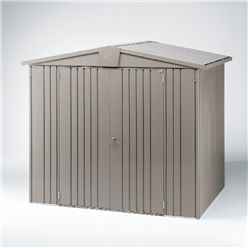 6ft x 5ft Heavy Duty Quartz Grey Metal Shed (1.72m x 1.56m)