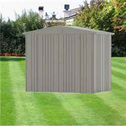 8ft x 5ft Heavy Duty Quartz Grey Metallic Metal Shed (2.44m x 1.56m)