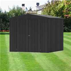 8ft x 7ft Heavy Duty Dark Grey Metallic Metal Shed (2.44m x 2.28m)