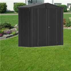 8ft x 3ft Heavy Duty Dark Grey Metallic Metal Shed (2.44m x 0.84m)