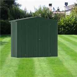 8ft x 3ft Heavy Duty Dark Green Metal Shed (2.44m x 0.84m)