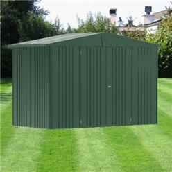 10ft x 5ft Heavy Duty Dark Green Metal Shed (3.16m x 1.56m)