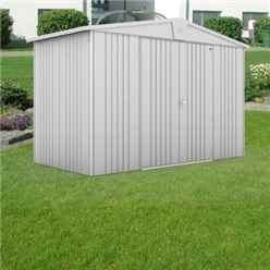 10ft x 5ft Heavy Duty Silver Metallic Metal Shed (3.16m x 1.56m)