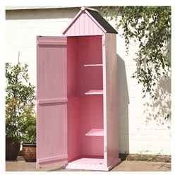 2ft x 2ft Pink Salcombe Beach Style Apex Sentry Shed