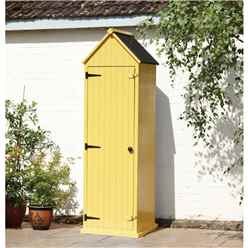 2ft x 2ft Yellow Salcombe Beach Style Apex Sentry Shed