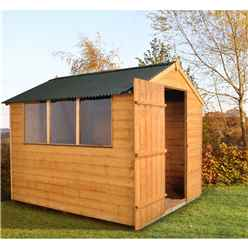 8ft x 6ft Traditional Shiplap Shed with Onduline Roof
