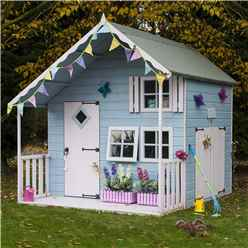 7ft x 6ft  (2.09m x 1.79m) - Crib Playhouse - 12mm Tongue and Groove - 3 Windows - Single Door & Double Doors - Apex Roof