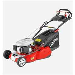 Cobra RM46SPCE Electric Start Petrol Powered 46cm Rear Roller Self Propelled Lawnmower - Free Oil and Free Next Day Delivery*