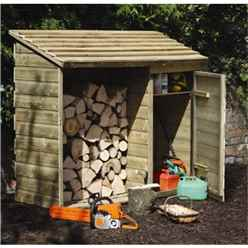 5.7ft x 2.2ft (176cm x 69cm) Tongue and Groove Pressure Treated Log And Tool Store