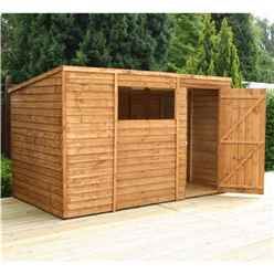 INSTALLED 10ft x 6ft (3.12m x 1.83m) Super Saver Overlap Pent Shed (10mm Solid Osb Floor) - INCLUDES INSTALLATION