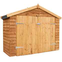 INSTALLED Bike Store 7ft x 3ft (2.01m x 0.82m) Overlap Super Saver With Double Doors (10mm OSB Floor) - INCLUDES INSTALLATION
