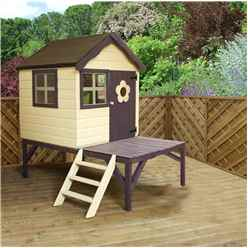 INSTALLED Snug Playhouse 4ft x 4ft With Tower - INCLUDES INSTALLATION