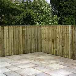 5FT Pressure Treated Vertical Feather Edge (Flat Top) - 1 Panel Only (Min Order 3 Panels) + Free Delivery*