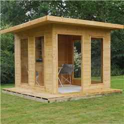 INSTALLED 10 x 10 (2.9m x 2.9m) Cube Tongue and Groove Summerhouse (Tongue and Groove Floor and Roof) - INCLUDES INSTALLATION