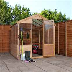 INSTALLED 6tf x 6ft (1.8m x 1.8m) Wooden Shiplap Plus Greenhouse INCLUDES INSTALLATION