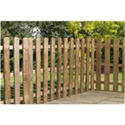 3FT Pressure Treated Palisade Round Top Fencing Panel - 1 Panel Only + Free Delivery