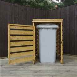 **3 x 3 (0.83m x 0.75m) Pressure Treated Single Bin Store (2'8