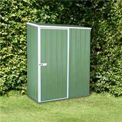 **PRE-ORDER:DUE BACK IN STOCK: 22ND DECEMBER** INSTALLED 5ft x 3ft (1.5m x 1.9m) Space Saver Pale Eucalyptus Metal Shed (1.52m x 0.78m) INCLUDES INSTALLATION