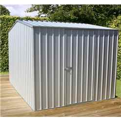 INSTALLED 8ft x 10ft (2.3m x 3m) Premier Zinc Metal Shed (2.26m x 3m) INCLUDES INSTALLATION