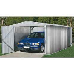 INSTALLED 10ft x 20ft (3.0m x 6.0m) Utility Zinc Metal Shed (3m x 6.02m) INCLUDES INSTALLATION