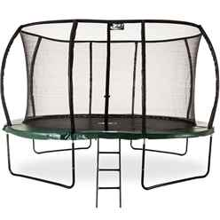 INSTALLED 7ft x 10ft DELUXE Jump Capsule MK II Trampoline with Enclosure Package + FREE Ladder