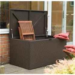 Deluxe Brown Metal Deck Box