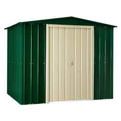 8ft x 10ft Heritage Green Metal Shed (2.34m x 2.99m)