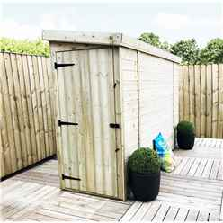 INSTALLED 3FT x 4FT Windowless Pressure Treated Tongue & Groove Pent Shed + Side Door - INCLUDES INSTALLATION
