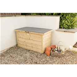 Pressure Treated Shiplap Garden Storage Box (64 x 108 x 55 cm)
