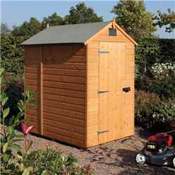 INSTALLED 6ft x 4ft Deluxe Rowlinson Security Tongue & Groove Shed (12mm T&G Floor) INSTALLATION INCLUDED