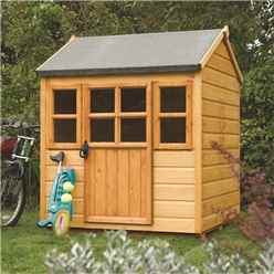INSTALLED Little Lodge Rowlinson Playhouse 4ft x 4ft (1.25m x 1.29m) INCLUDES INSTALLATION