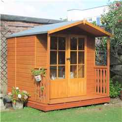 INSTALLED 7ft x 7ft (2.05m x 1.98m) Beaufort Summerhouse - Veranda - 12mm T&G Floor