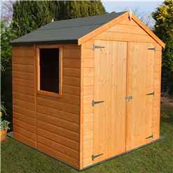 INSTALLED - Stowe - 6ft x 6ft (1.79m x 1.79m) - Tongue & Groove Apex Garden Shed - 1 Opening Window - Double Doors - 12mm T&G Floor