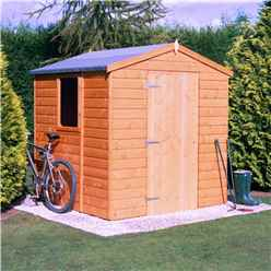 INSTALLED - Stowe - 6ft x 6ft (1.79m x 1.79m) - Tongue & Groove Apex Garden Shed - 1 Opening Window - Single Door - 12mm Tongue and Groove Floor INSTALLATION INCLUDED