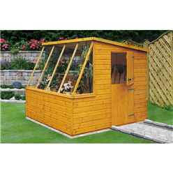 8ft x 6ft  (2.39m x 1.79m) - Tongue And Groove - Potting Shed - Opening Side Door