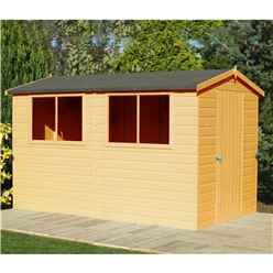 10ft x 6ft (2.99m x 1.79m) - Tongue And Groove - Wooden Apex Workshop - 12mm Tongue And Groove Floor and Roof