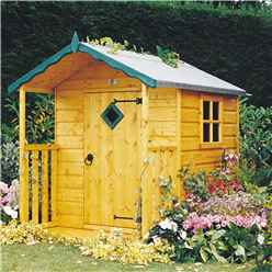 INSTALLED - 4ft x 4ft (1.19m x 1.19m) - Wooden Hide Playhouse INSTALLATION INCLUDED