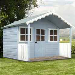 INSTALLED 6ft x 4ft (1.79m x 1.19) -  Wooden Stork Playhouse