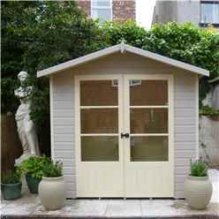 7ft x 5ft (1.98m x 1.61m) - Premier Pressure Treated Wooden Summerhouse - 12mm T&G Walls & Floor