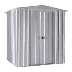 6ft x 5ft Premier EasyFix – Apex – Metal Shed - Aluminium White (1.84m x 1.54m)