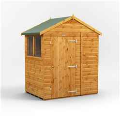 4ft x 6ft  Premium Tongue and Groove Apex Shed - Single Door - 2 Windows - 12mm Tongue and Groove Floor and Roof