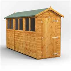 12ft x 4ft Premium Tongue and Groove Apex Shed - Single Door - 6 Windows - 12mm Tongue and Groove Floor and Roof